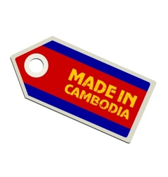 Made in Cambodia vector image