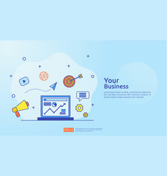 Marketing concept with document data report vector