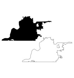 Memphis city map vector