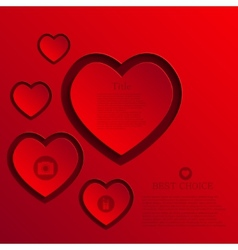 modern heart background vector image