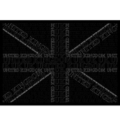 Monochrome United Kingdom Text Flag vector image