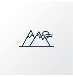 mountain icon line symbol premium quality vector image