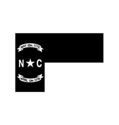 north carolina nc state flag united states vector image