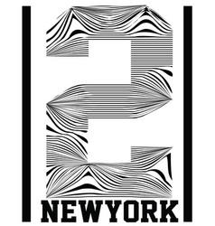 Number typography t-shirt graphics sport vector