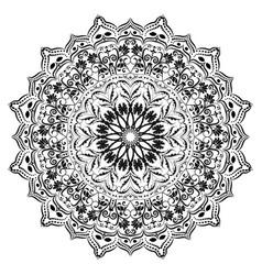 ornament circular mandala black white ornamental vector image