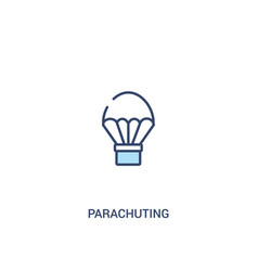 parachuting concept 2 colored icon simple line vector image