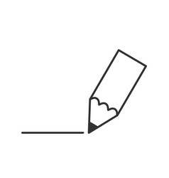 Pensil line icon vector