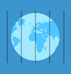 planet earth mateal design festive background vector image