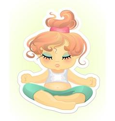 practising yoga vector image