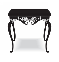Rich Baroque coffee Table vector image
