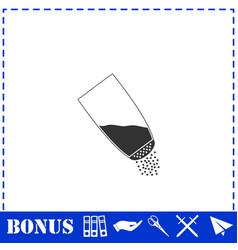 Salt icon flat vector