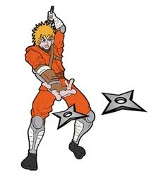 Samurai attack draw vector
