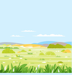 Savanna landscape nature background vector