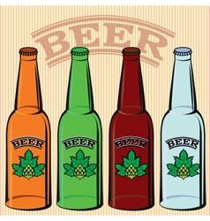 set of bottles of beer vector image
