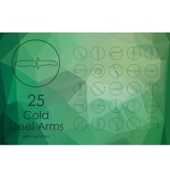 Set of cold arms icons vector image