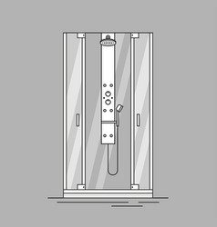 Shower cabin vector
