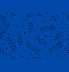 Soccer seamless background vector