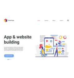 software website development internet mobile app vector image