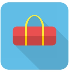 Sports bag icon vector