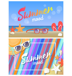 summer mood posters colorful vector image