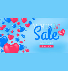 Template landing page valentines day sale vector