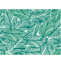 tropical pattern palm leaves seamless vector image
