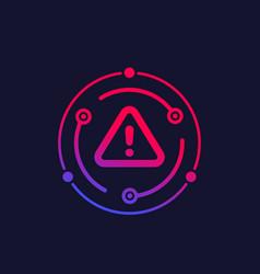 Warning alert icon vector