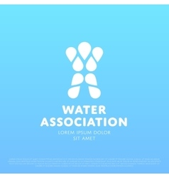 Water Man Logo vector image