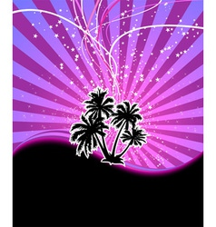 discotheque night palm vector image vector image
