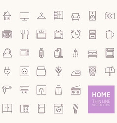 Household Outline Icons for web and mobile apps vector image vector image