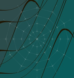 Cobweb on grass vector