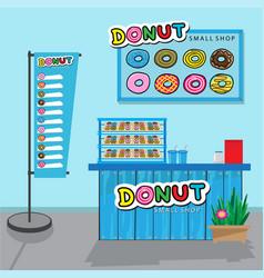 donuts small shop vector image vector image