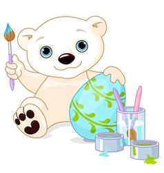 Easter Polar Bear vector image vector image