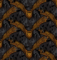 Halloween seamless pattern with ornate vampire vector image