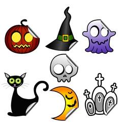 Halloween stickers vector image