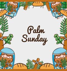 Palm sunday catholic traditional religion vector