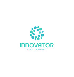 Related innovative abstract logo new technology vector