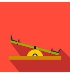 Seesaw flat icon vector image vector image