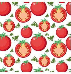tomato seamless pattern tomatoes endless vector image