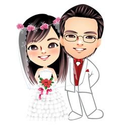 wedding-001 vector image