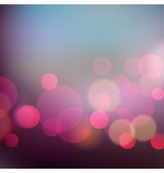 Abstract Christmas light background with bokeh vector image vector image
