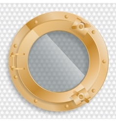 antique brass porthole on a transparent background vector image vector image