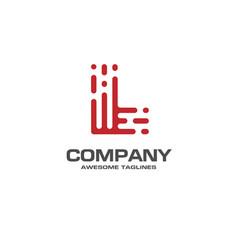 creative letter l line logo design vector image