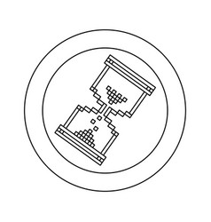 figure blue symbol pixel hourglass cursor icon vector image vector image