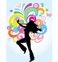 funky female vector image