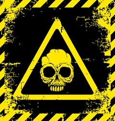 Skull yellow vector image vector image