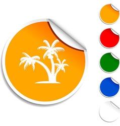 Tropical icon vector