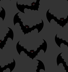Bat seamless pattern Flying vampire background vector image