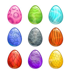 colorful cartoon eggs set vector image vector image