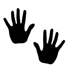 Hands print on white background vector image vector image